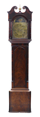 A George III provincial mahogany tallcase clock