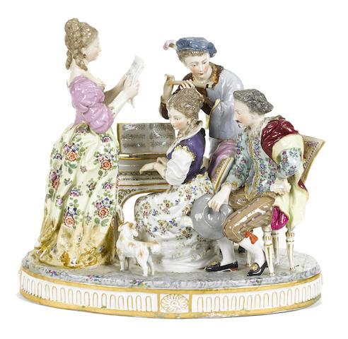 A Continental porcelain figural group