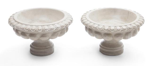 A pair of Italian Neoclassical marble tazzas