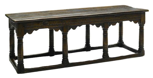 An English Baroque oak table