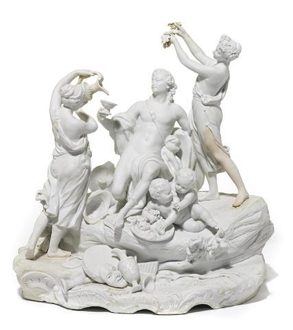 A Continental bisque porcelain figural group