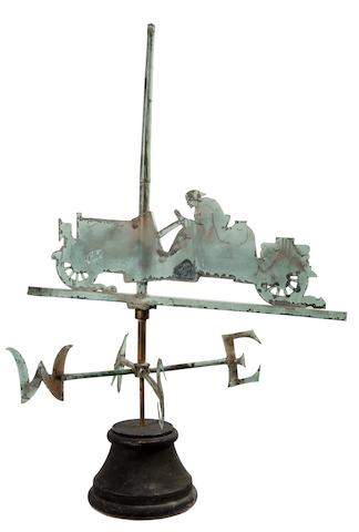 An American racing weathervane