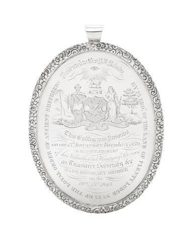 A Victorian silver masonic badge