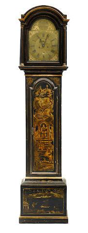 A George III lacquered tallcase, Benjamin Heeley, Deptford