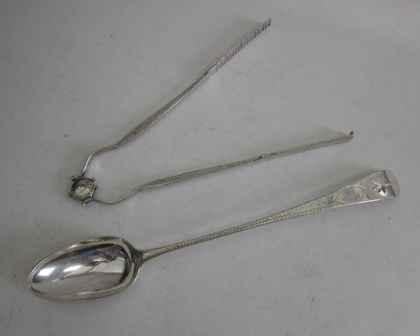 A George III silver Old English pattern basting spoon