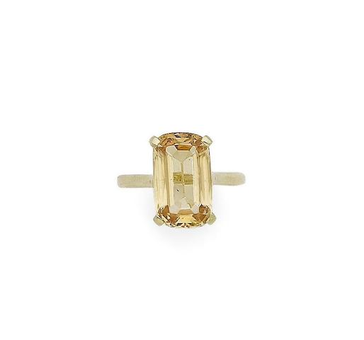 A topaz single-stone ring
