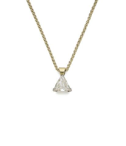 A diamond single-stone pendant necklace