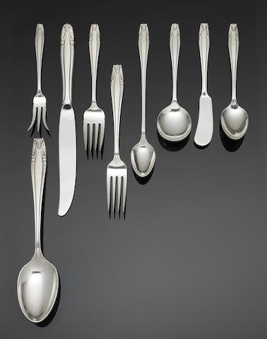 A mid 20th century American silver flatware service