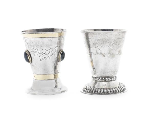 An 18th century North European silver beaker