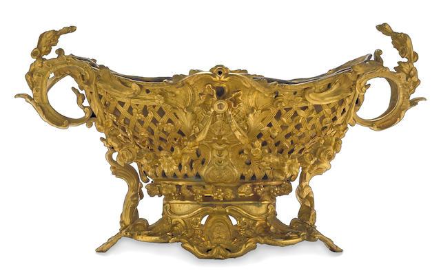 A Napoleon III gilt bronze centerpiece Henri Picard