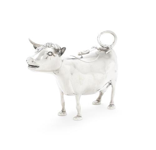 A late 19th / early 20th century Dutch silver cow creamer