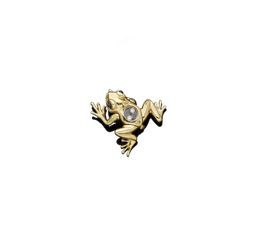 A 'Happy Diamond' frog brooch