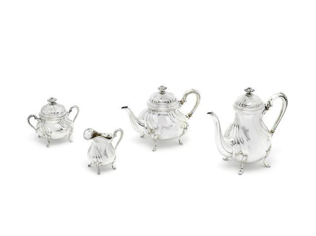 An early 20th century German four-piece silver tea service