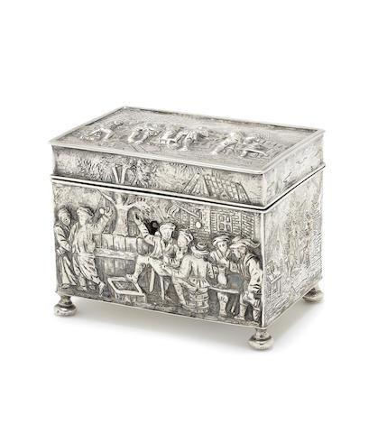 A late 19th century Dutch silver casket