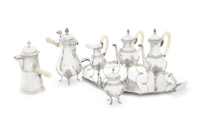 A 20th century silver four-piece tea service