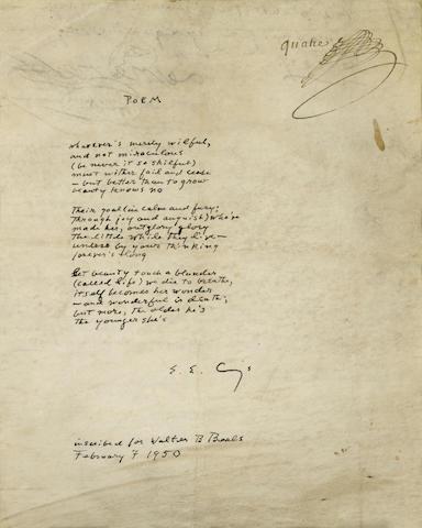 Autograph Manuscript