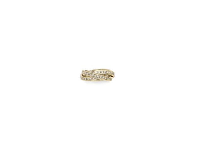 A diamond-set 'trinity' ring