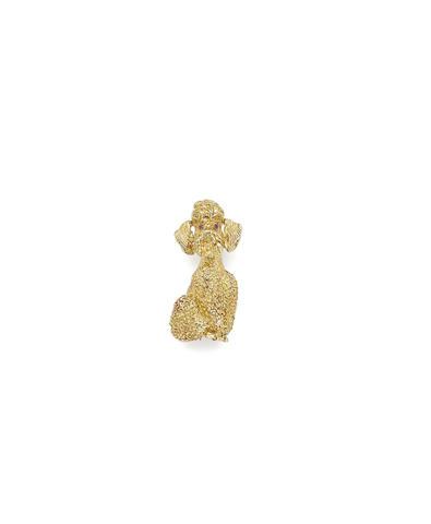 A gold novelty brooch