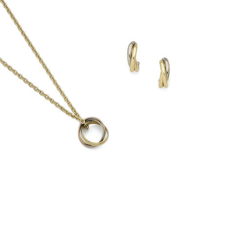 A 'Trinity' necklace and earring suite