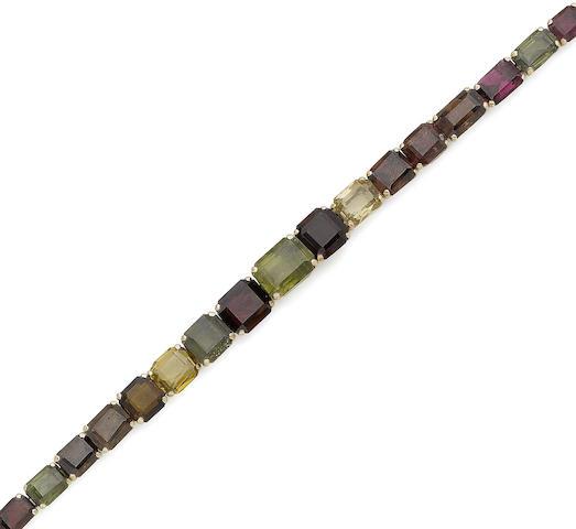 A multi gem-set bracelet