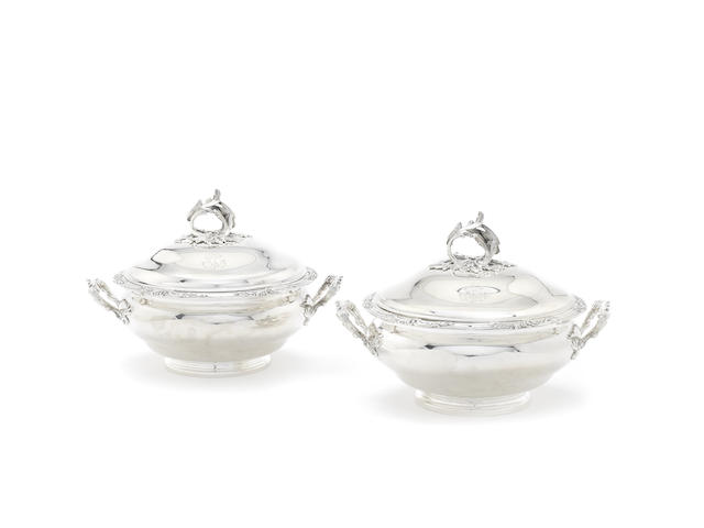 A late 19th century French silver six-piece dinner service