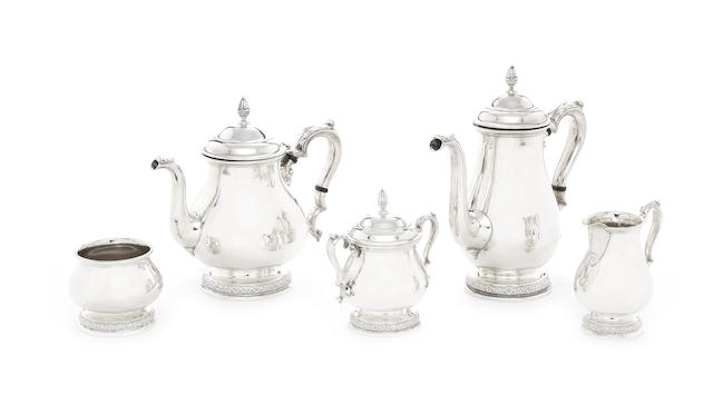 A 20th century American five-piece 'Prelude' pattern silver tea and coffee service