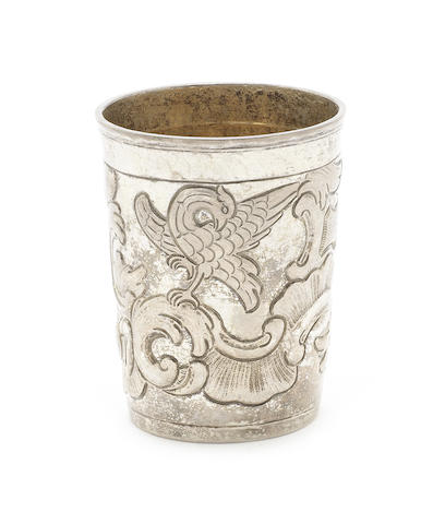 An 18th century Russian silver beaker