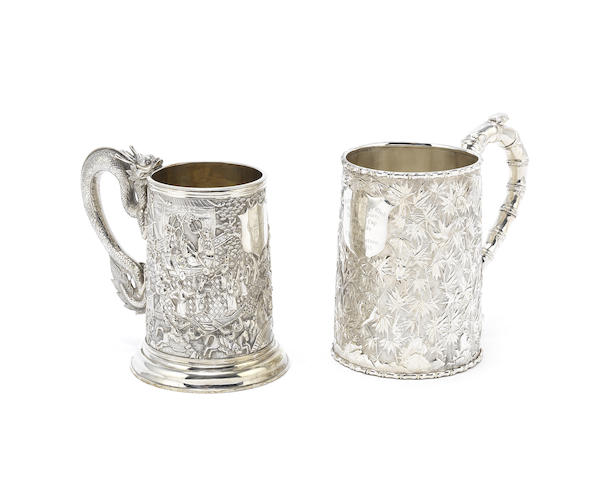 A late 19th century Chinese Export silver mug