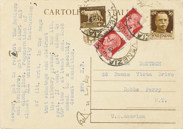 Typed Postcard