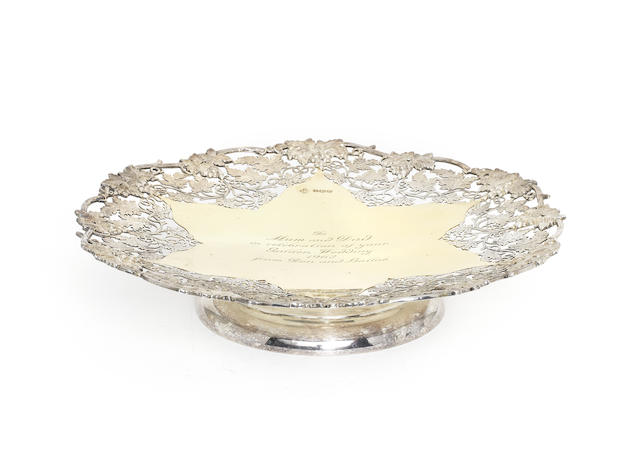A silver and silver-gilt dish