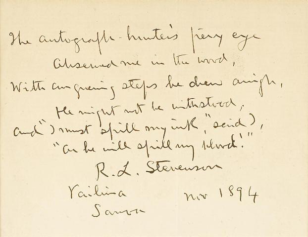 Autograph Manuscript Verse