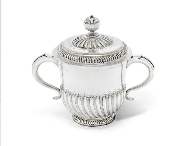 A William III Britannia standard silver two-handled cup and cover
