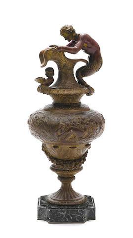 A French gilt bronze ewer