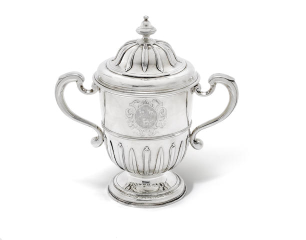 A George I Britannia standard silver two-handled cup and cover