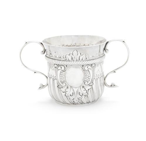 A George I silver porringer