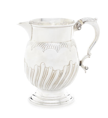 A George II silver beer jug