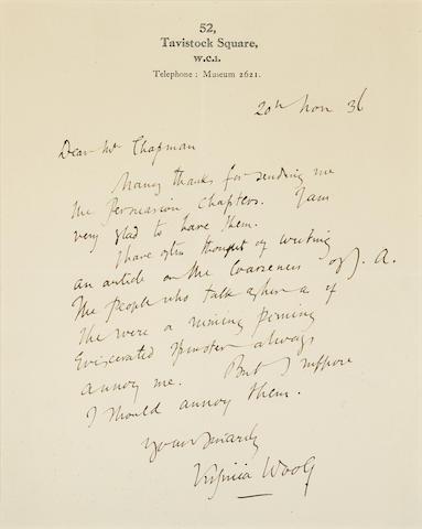 Autograph Letter