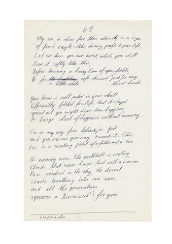 Autograph and Typed Manuscripts