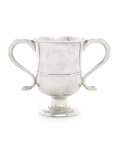 A George III provincial silver two-handled cup