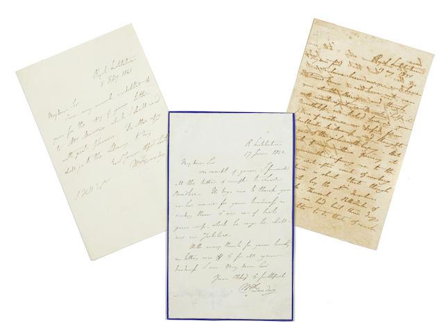 3 Autograph Letters