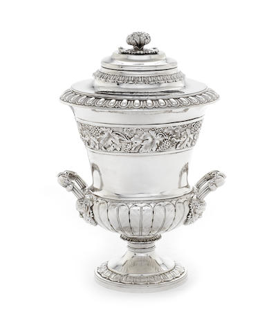 A George III silver two-handle cup and cover