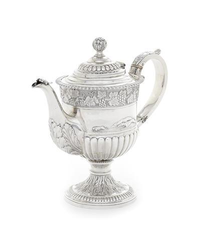 A George IV Scottish silver teapot
