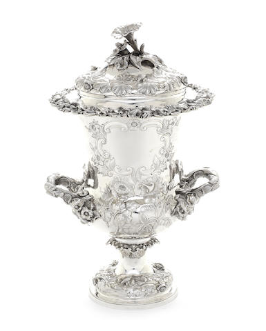 A William IV silver cup and cover