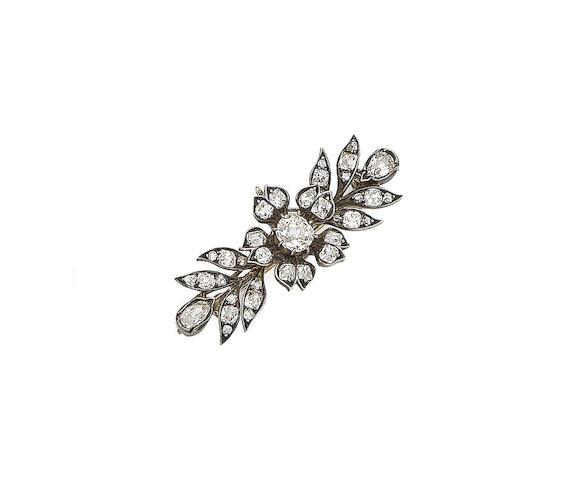 A late 19th century diamond floral brooch/pendant