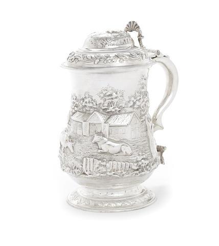 A George III silver tankard