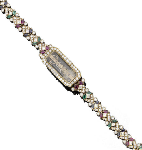 A gem-set 'Golden Bridge' wristwatch