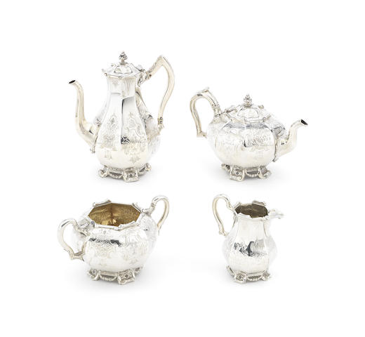 A Victorian four-piece silver tea and coffee service