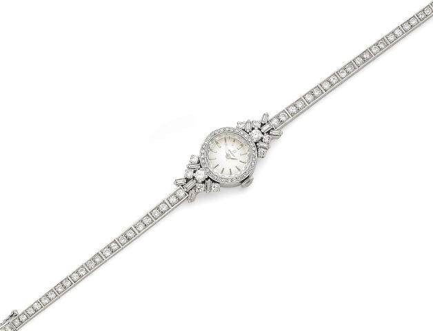 A diamond-set wristwatch
