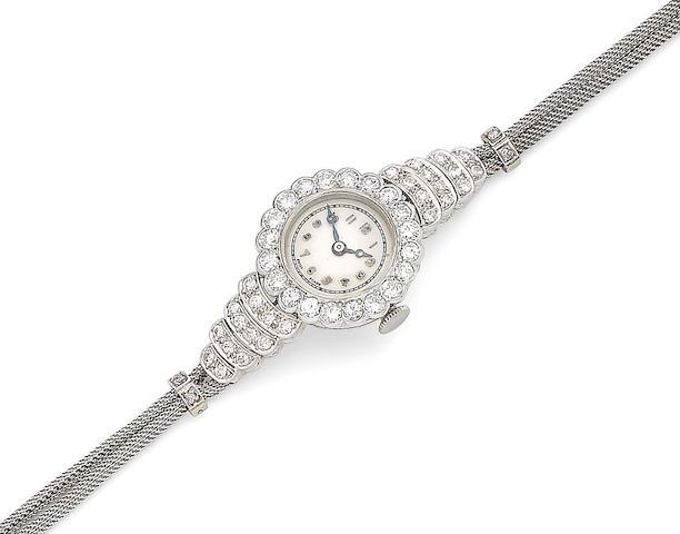 A diamond-set cocktail watch