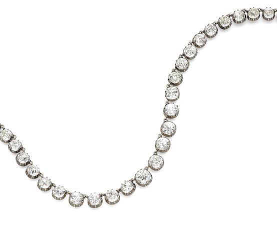 A rock crystal necklace